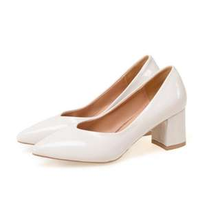 Korean White Block Shoes