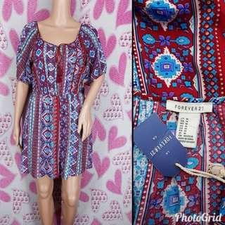 Forever 21Tribal Print Peasant Dress BNWT