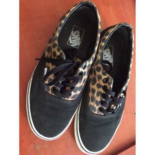 Vans Era Black Leopard