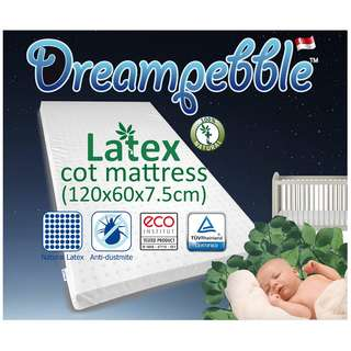 Natural Latex Cot Mattress - Free Delivery