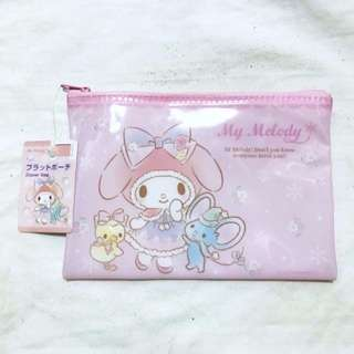 BNWT My Melody Baby Pink Zipper Bag Pouch