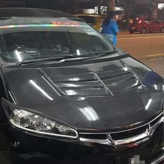 Carbon Fiber Bonnet Hood For Toyota Wish