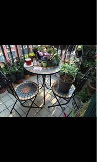 Dining Table, chairs, coffee chairs, iron chairs, outdoor chairs.