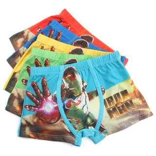 Ironman 5pcs underwear set(preorder)