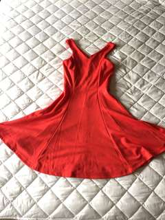 ASOS style red summer skater dress