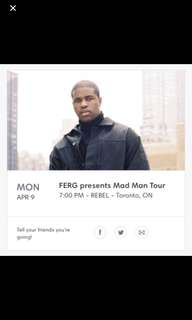 **PRICE DROP** 2 GA ASAP FERG TICKETS