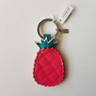 Authentic Coach Pineapple Key Ring F69541