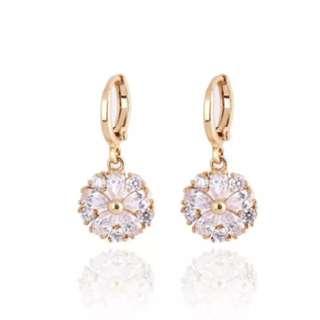 Gold Platinum Plating Delicate Zircon Earrings