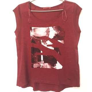 EDC by Esprit Maroon Shirt