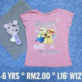 4-6 years old : Kids Cloth Shirt Dress Baby Girl Boy