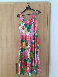 Retro Floral Dress for sale!