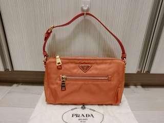 PRADA Tessuto Nylon and Saffiano Leather Shoulder Bag BN1834