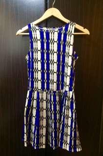 Printed Blue & White dress