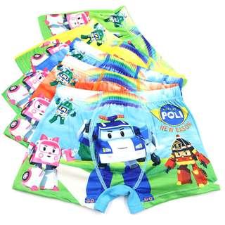 Robocar Poli 5pcs underwear set(preorder)