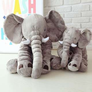 60cm Giant Stuffed Elephant Toy Pillow Cute Soft Plush Cuddly Fabric Great Gift Idea for Kids & Adults