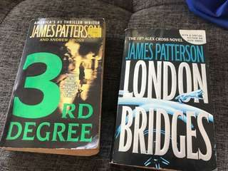 James Patterson 3rd Degree and London Bridges - get these two books!