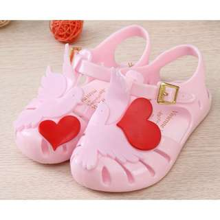 [INSTOCKS] BabyGirl Dove Jelly Shoes