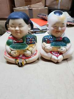 Porcelain Coin Bank Chinese