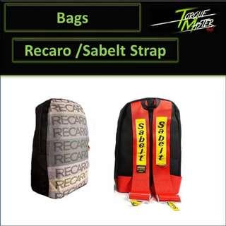 Recaro Bag Pack With Sabelt Racing Strap.