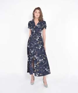 HerVelvetVase Lumiere Floral Maxi Dress