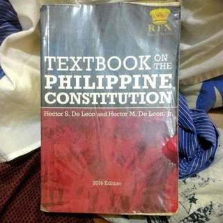 Textbook on Philippine Constitution