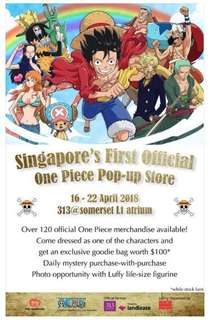 One Piece Popup Store in SG!