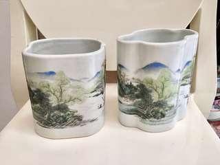 Antique Brush Pots