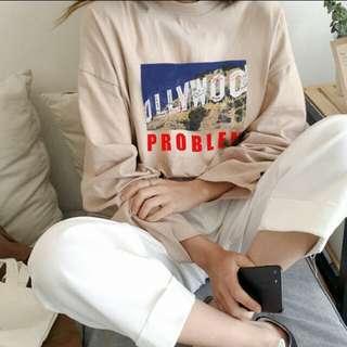 (PO) Ulzzang print long sleeve