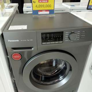 Panasonic mesin cuci front loading dicicil proses 3 menit tanpa CC