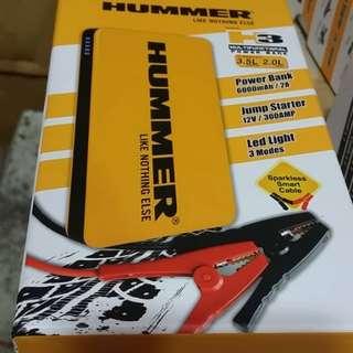 BNIB!! Hummer H3 Power Bank/Jump Starter/LED Light