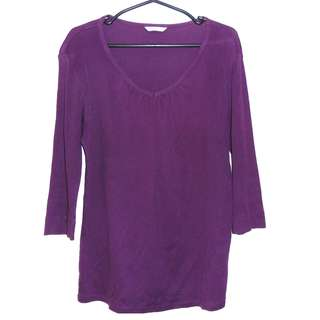 Charity Sale! Extra Fine Cotton Very Soft Women's Shirt Top Sie Extra Large XL Purple