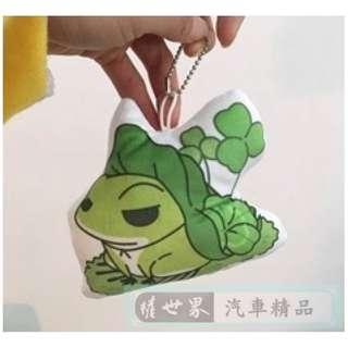 🚚 權世界@汽車用品 旅行青蛙 5.5吋吊飾 鑰匙圈吊飾 包包吊飾 HD-204