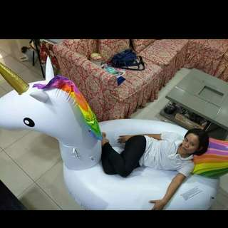 Unicorn float and floaties are always available
