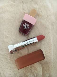 BUNDLE! Etude Dear Darling Tint and Maybelline powdered Mattes