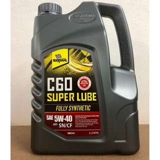 Bardahl C60 Super Lube SAE 5W40 SN/CF Fully Synthetic Engine Oil 4L