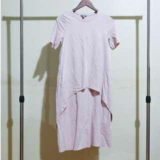 COS Pink Maxi T-Shirt Dress
