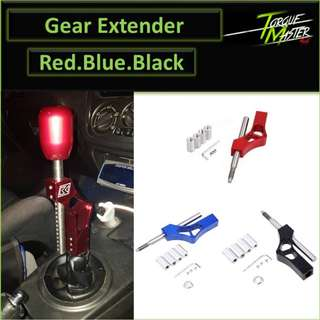 Gear Shifter Extender . Red .Blue .Black . Gear knob Sell Separately.