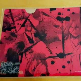 Original Hakuouki A5 Clear Folder File