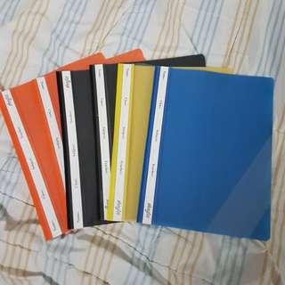 Colour Files yellow,orange,blue,balck