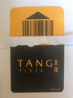 Ck tang carpark coupon