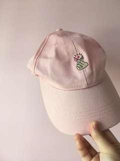 粉紅色cap帽