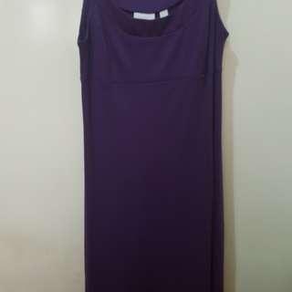 Purple Body Fit Dress