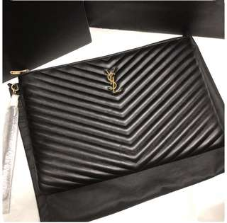 💯Brand New YSL Large O Case Pouch / Clutch