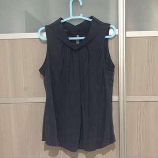 Nichii navy blue sleeveless top