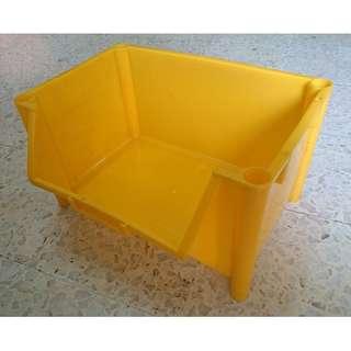 Multi Tool Box Plastic Storage Box Plastic Container Yellow (per pieces)