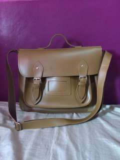 Leather Messenger Bag (Brown)