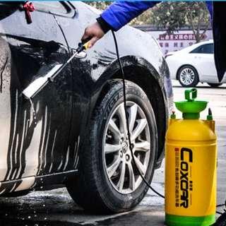 Brand New original. DIY car wash, auto spray. Hand pump water spray. No electricity needed. Grab, ryde, grabcar rental