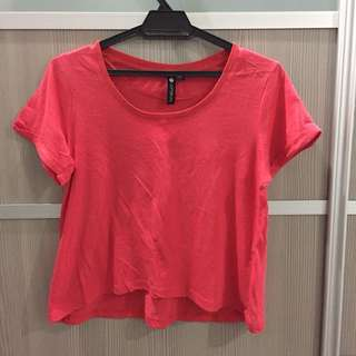 Cotton on red orange top