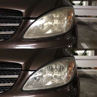 Mercedes Vito headlight restoration