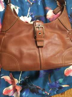 Preloved Coach Leather Brown bag. From US.